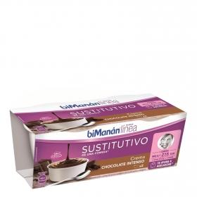 Crema de chocolate Bimanán pack de 2 unidades de 210 g.