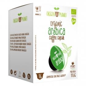Café arábica ecológico en cápsulas Origen&Planet compatible con Dolce Gusto 16 unidades de 7 g.