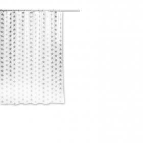 Cortina de baño PVC Estrellas 180x180cm Translúcido