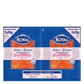 Salmón ahumado Royal pack de 2 unidades de 90 g.