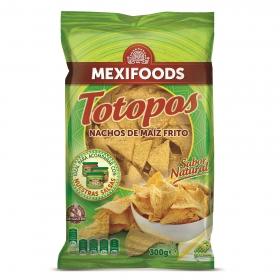Nachos de maíz fritos Totopos sin gluten
