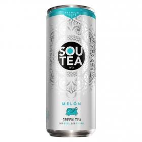 Refresco de té verde natural con zumo bajo en calorías Sabor Melón