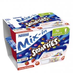 Yogur con smarties