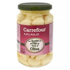 Ajo en aceite de oliva Carrefour 225 g.