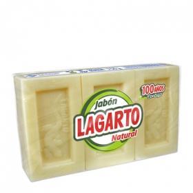 Detergente con jabónl Lagarto pack de 3 unidades de 250 g.