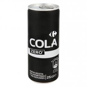 Refresco de cola Carrefour zero lata 25 cl.