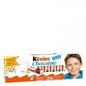 Barritas de chocolate con leche