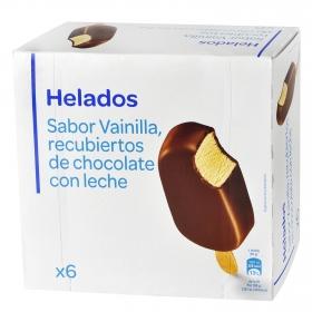 Bombón helado sabor vainilla Producto blanco 6 ud.