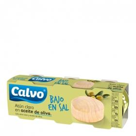 Atún claro en aceite de oliva bajo en sal