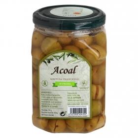 Aceitunas verdes Acoal partidas aliñadas 450 g.