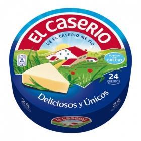 Queso en 24 porciones El Caserío 375 g.