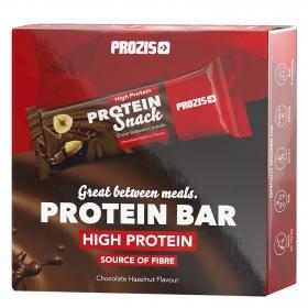 Barritas de proteínas sabor chocolate y avellanas Prozis pack de 6 barritas 30 g.