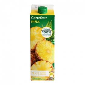 Zumo de piña Carrefour exprimido brick 1 l.