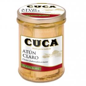 Filetes de atún claro en aceite de oliva Cuca 117 g.
