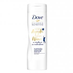 Leche corporal nutritiva para piel seca Dove 400 ml.