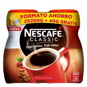 Café soluble mezcla descafeinado