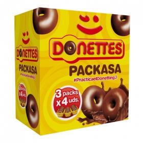 Bollito recubierto de chocolate Donettes 12 ud.