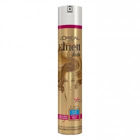 Laca fijadora fuerte para cabellos teñidos L'Oréal Elnett 400 ml.