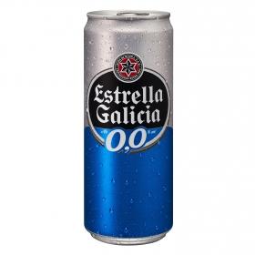 Cerveza Estrella Galicia 0,0 sin alcohol lata 33 cl.