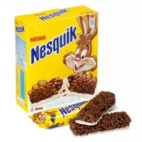 Barritas de cereales y leche