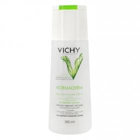Solución micelar 3 en 1 Normaderm Vichy 200 ml.