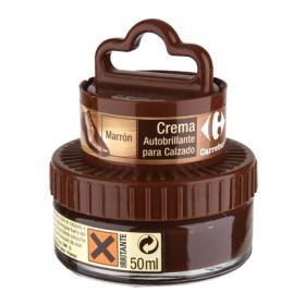 Crema autobrillante c/aplicador marrón Carrefour 50 ml.