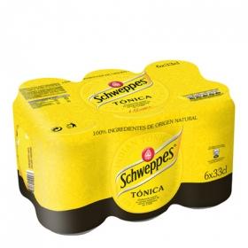 Tónica Schweppes pack de 6 botellas de 33 cl.