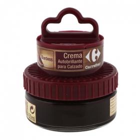 Crema autobrillante c/aplicador burdeos Carrefour 50 ml.