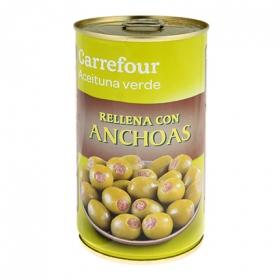 Aceitunas manzanilla verdes rellenas de anchoa