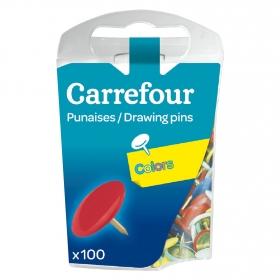 100 Chinchetas Colores Carrefour