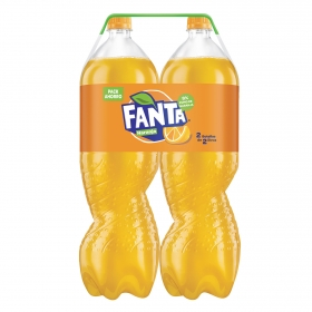 Refresco de naranja Fanta con gas pack de 2 botellas