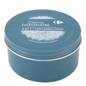 Crema hidratante de manos, cara y cuerpo Carrefour 350 ml.