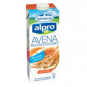 Bebida de avena baja en azúcares Alpro - Central Lechera Asturiana brik 1 l.