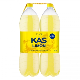 Refresco de limón Kas con gas pack de 2 botellas de 2 l.