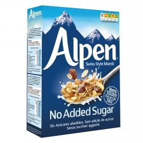 Cereales muesli de trigo y avena con pasas, avellanas y almendras sin azúcares añadidos