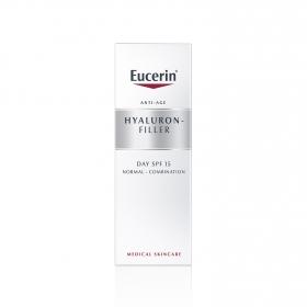 Crema facial para piel normal y mixta rellenador de arrugas Hyaluron Filler para el día con FP15
