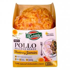 Redondo de pollo relleno huevo y jamón asado La Carloteña 500 g.