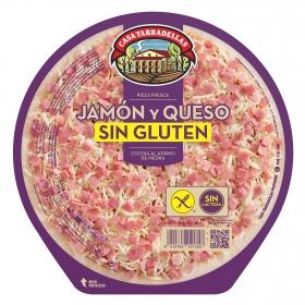 Pizza jamón y queso Casa Tarradellas sin gluten y sin lactosa 420 g.