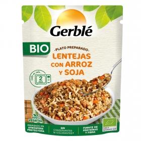 Lentejas con arroz y soja ecológicas Gerblé 250 g.