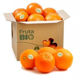 Naranja de mesa ecológica Carrefour Bio granel 1 kg aprox