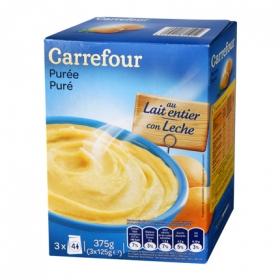 Puré de patatas con leche Carrefour 375 g.