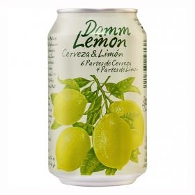 Cerveza Damm Lemon con limón lata 33 cl.