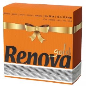 Servilletas naranjas 2 capas Gold Renova 40 ud.