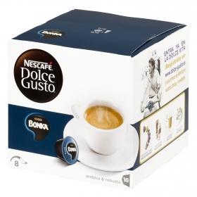 Café espresso bonka en cápsulas Nescafé Dolce Gusto 16 unidades de 7 g.