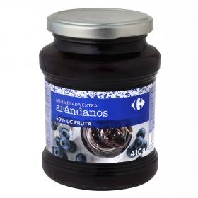 Mermelada de arándano categoría extra Carrefour 410 g.
