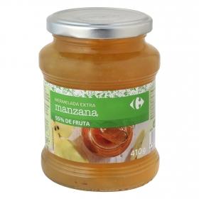 Mermelada de manzana categoría extra Carrefour 410 g.