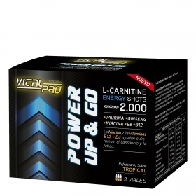 L-Carnitina Power Up Vital Pro pack de 3 viales de 10 ml.