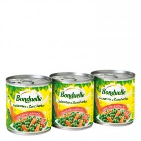 Guisantes y zanahorias Bonduelle 3x120 g.