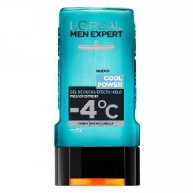 Gel de ducha efecto hielo Cool Power L'Oréal Men Expert 300 ml.