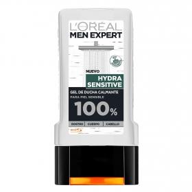Gel de ducha calmante para piel sensible L'Oréal Men Expert 300 ml.
